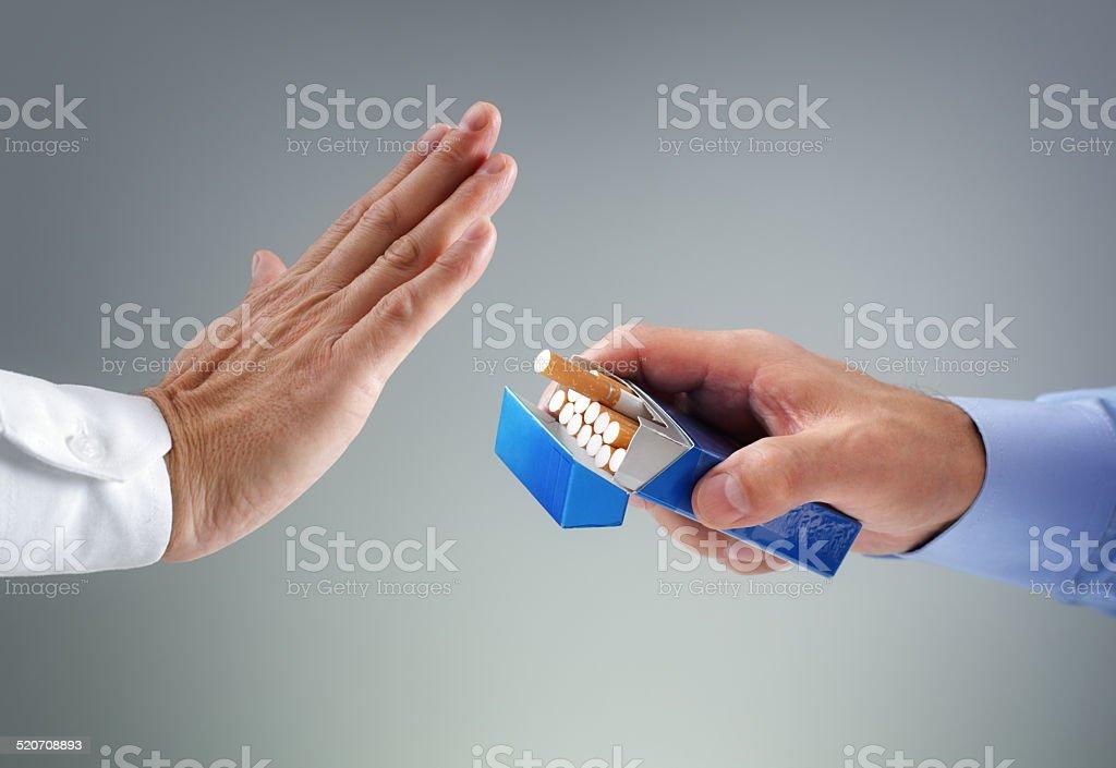 Quitting smoking stock photo