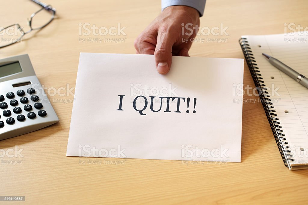 Quitting your job stock photo
