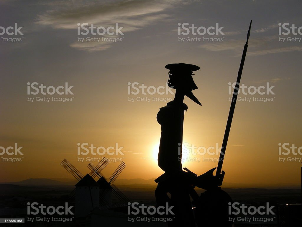 Quixote in metal stock photo