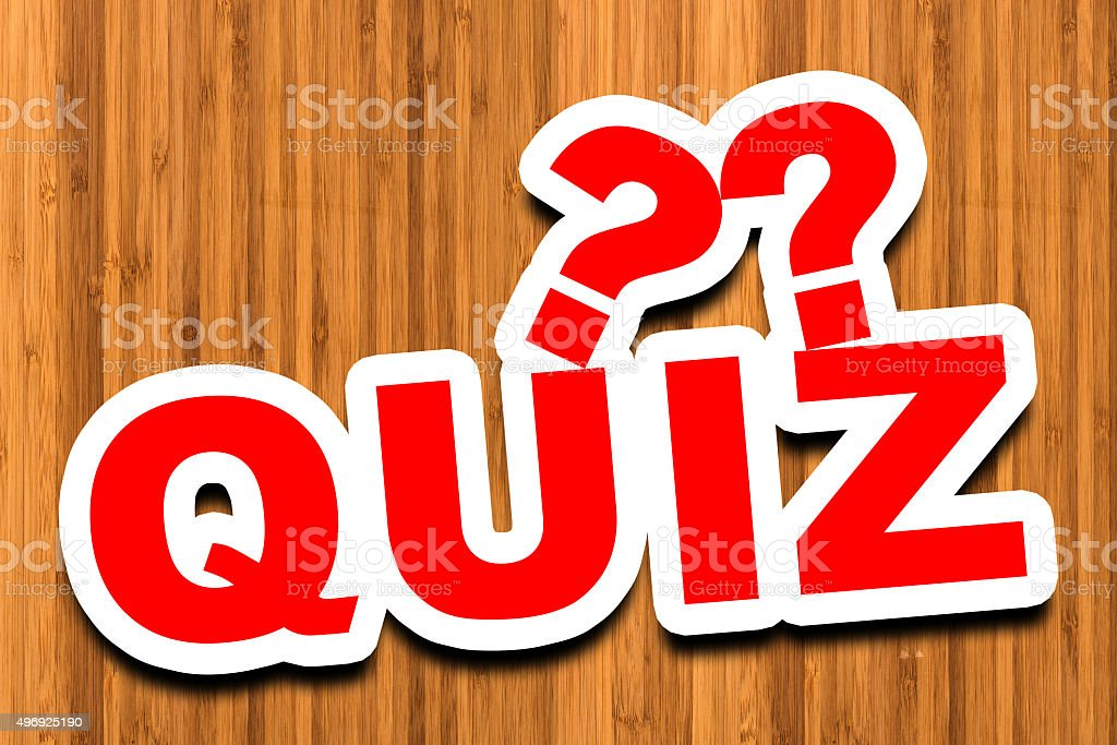 Quiz - 3D Text stock photo