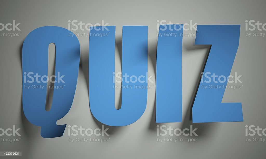 Quiz cut from paper on background royalty-free stock photo