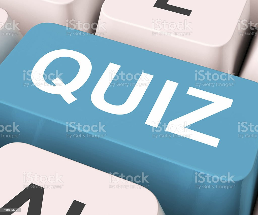 Quiz Key Means Test Or Questioning stock photo