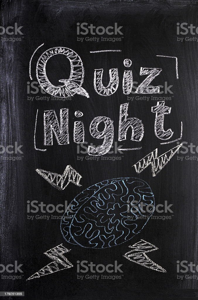 Quiz Night stock photo