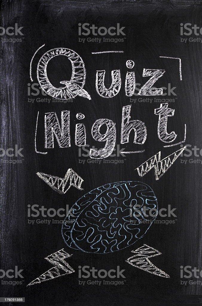 Quiz Night stock photo