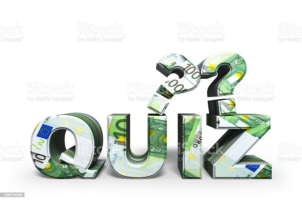 Quiz stock photo