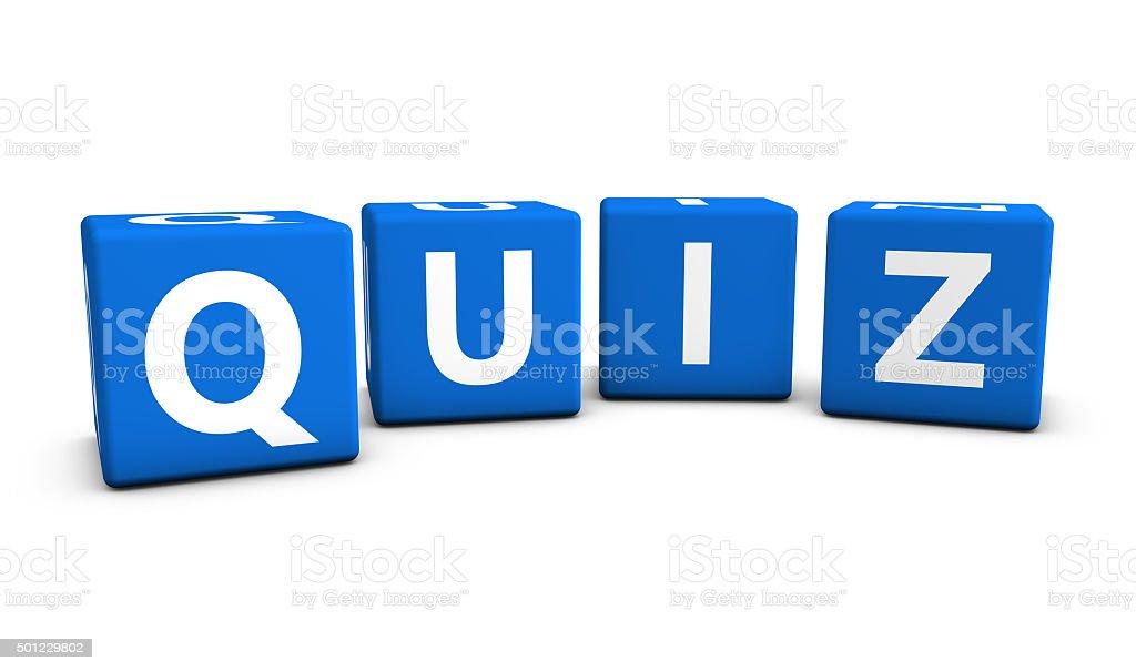 Quiz Sign Blue Cubes stock photo
