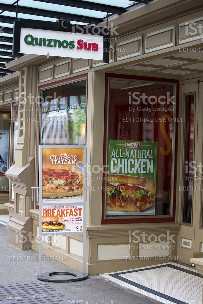 Quiznos Sub Sandwich Shop and Deli Downtown Seattle stock photo