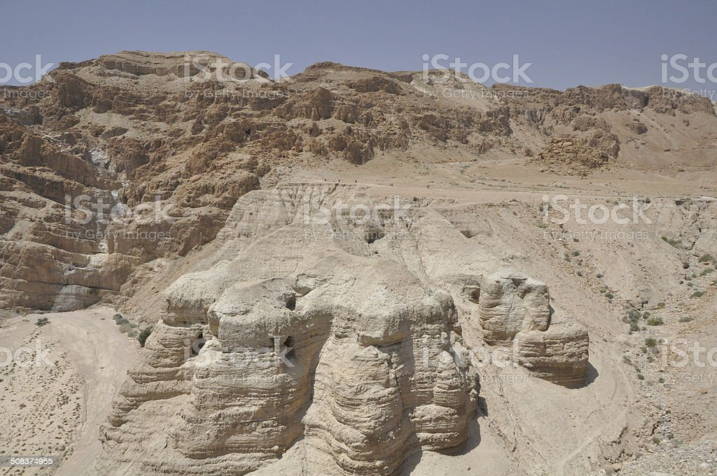 Qumran Caves stock photo