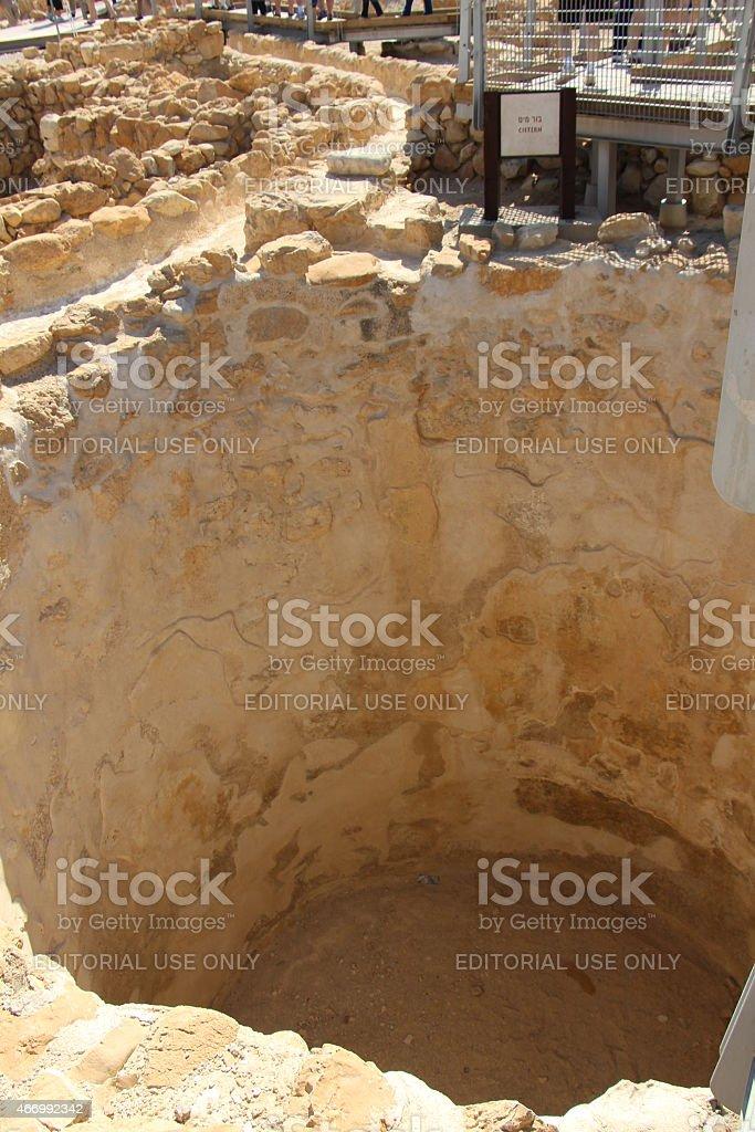 Qumran Cistern stock photo
