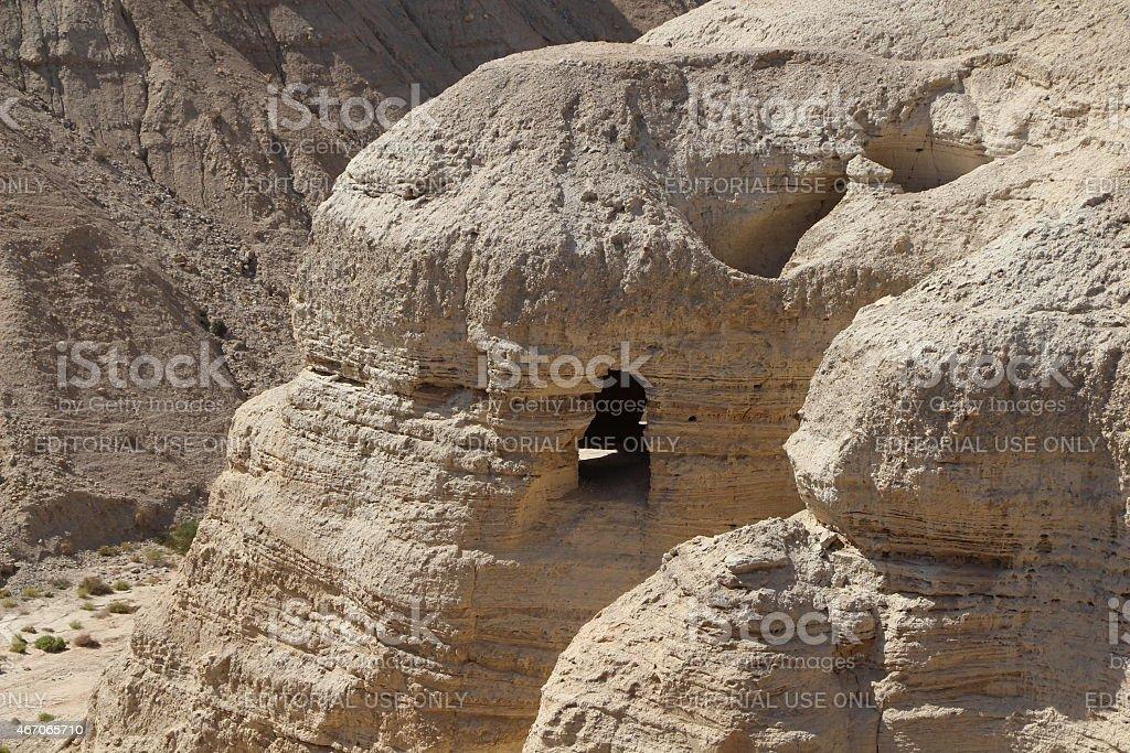 Qumran Dead Sea Scroll Cave stock photo