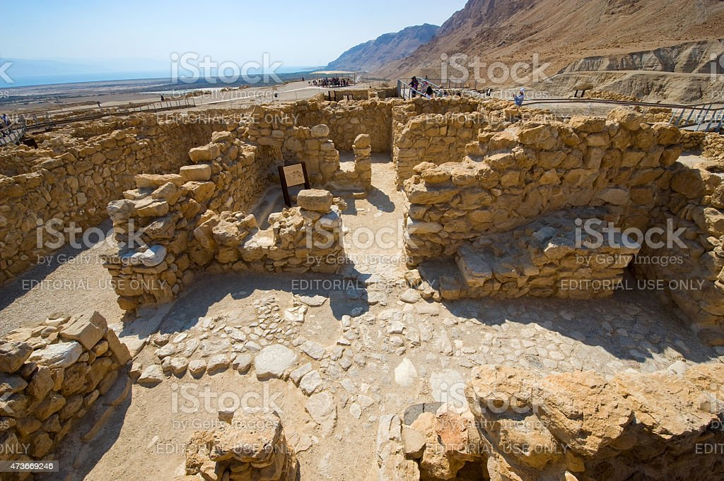 Qumran in Israel stock photo