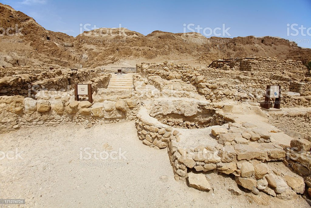 Qumran stock photo