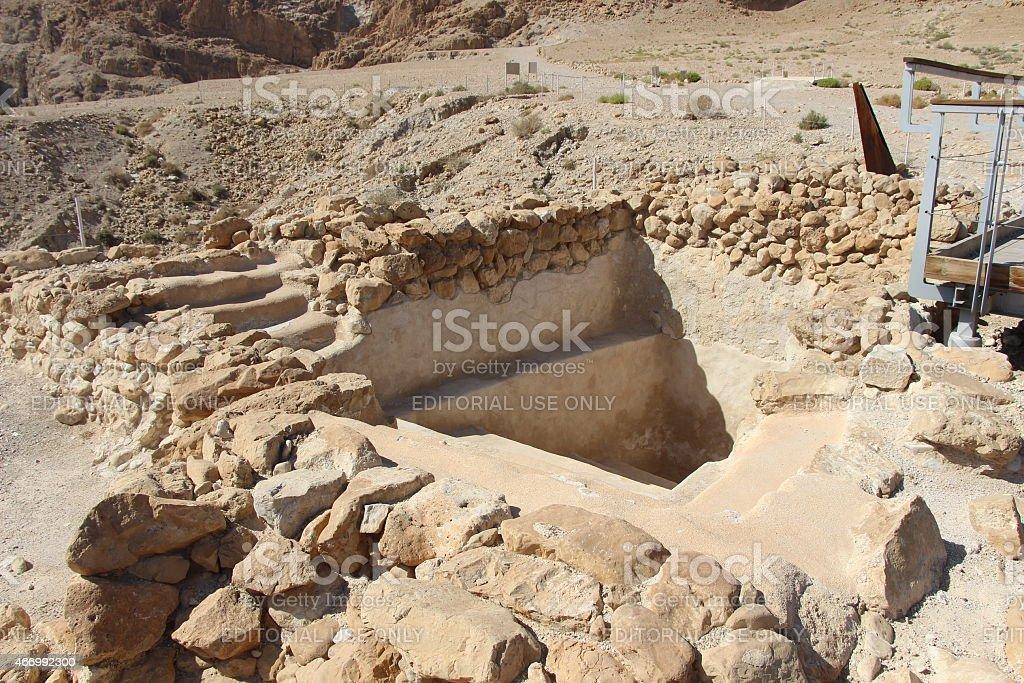 Qumran Ritual Bath stock photo