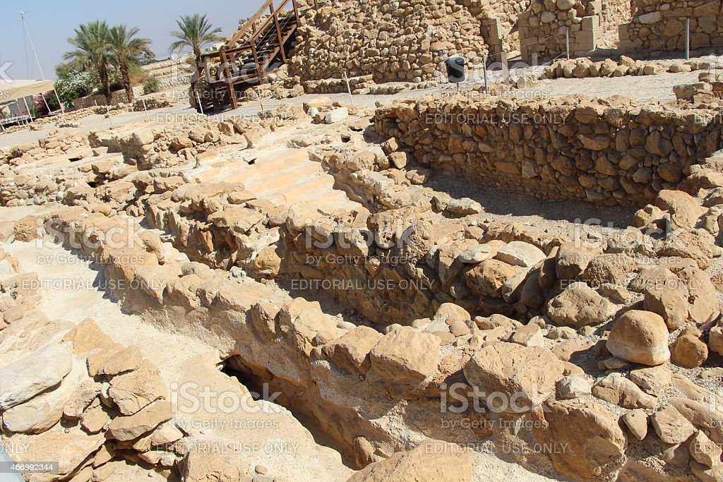 Qumran Ruins stock photo