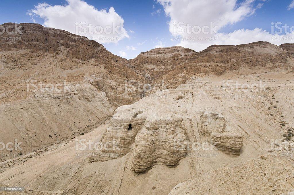 Qumran settlement ruins,Judean Desert, Israel stock photo