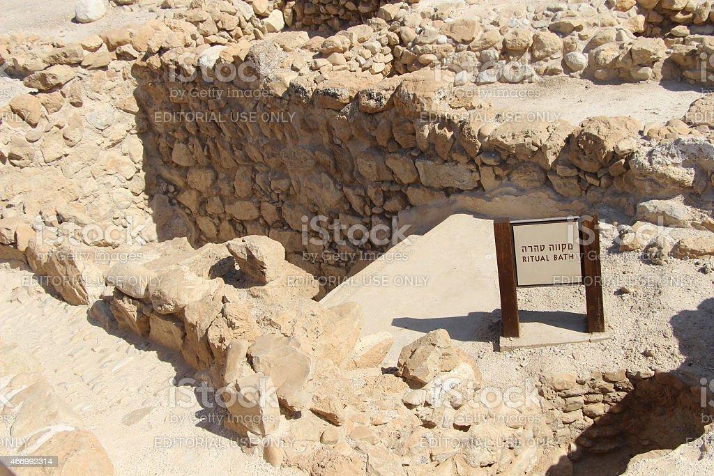 Qumran Storage Area stock photo