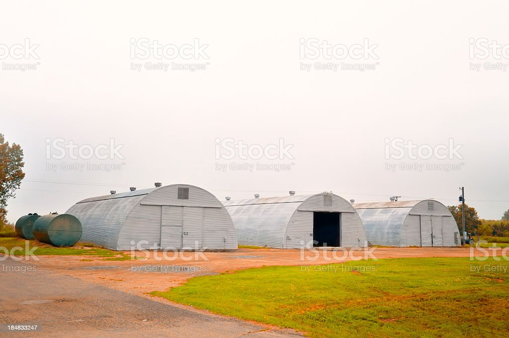 Quonset Huts In North Dakota royalty-free stock photo
