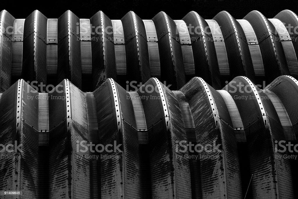 Quonsets royalty-free stock photo