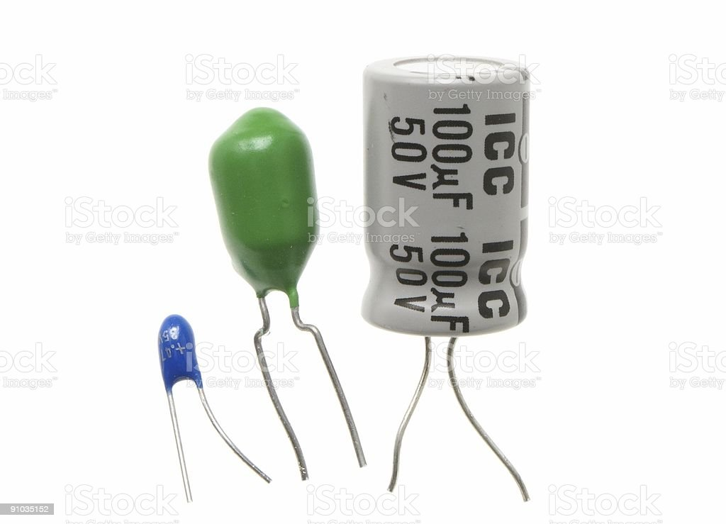 """""""a trio of large capacitors"""" royalty-free stock photo"""