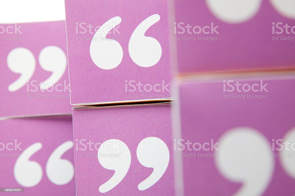 Quotation cubes stock photo