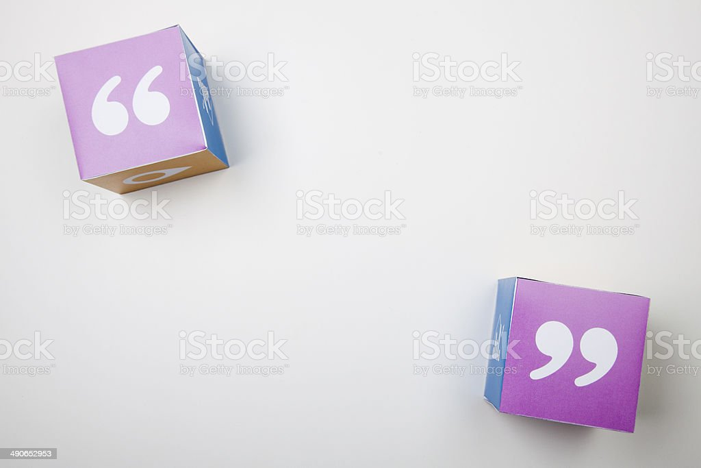 Quotation cubes stock photo