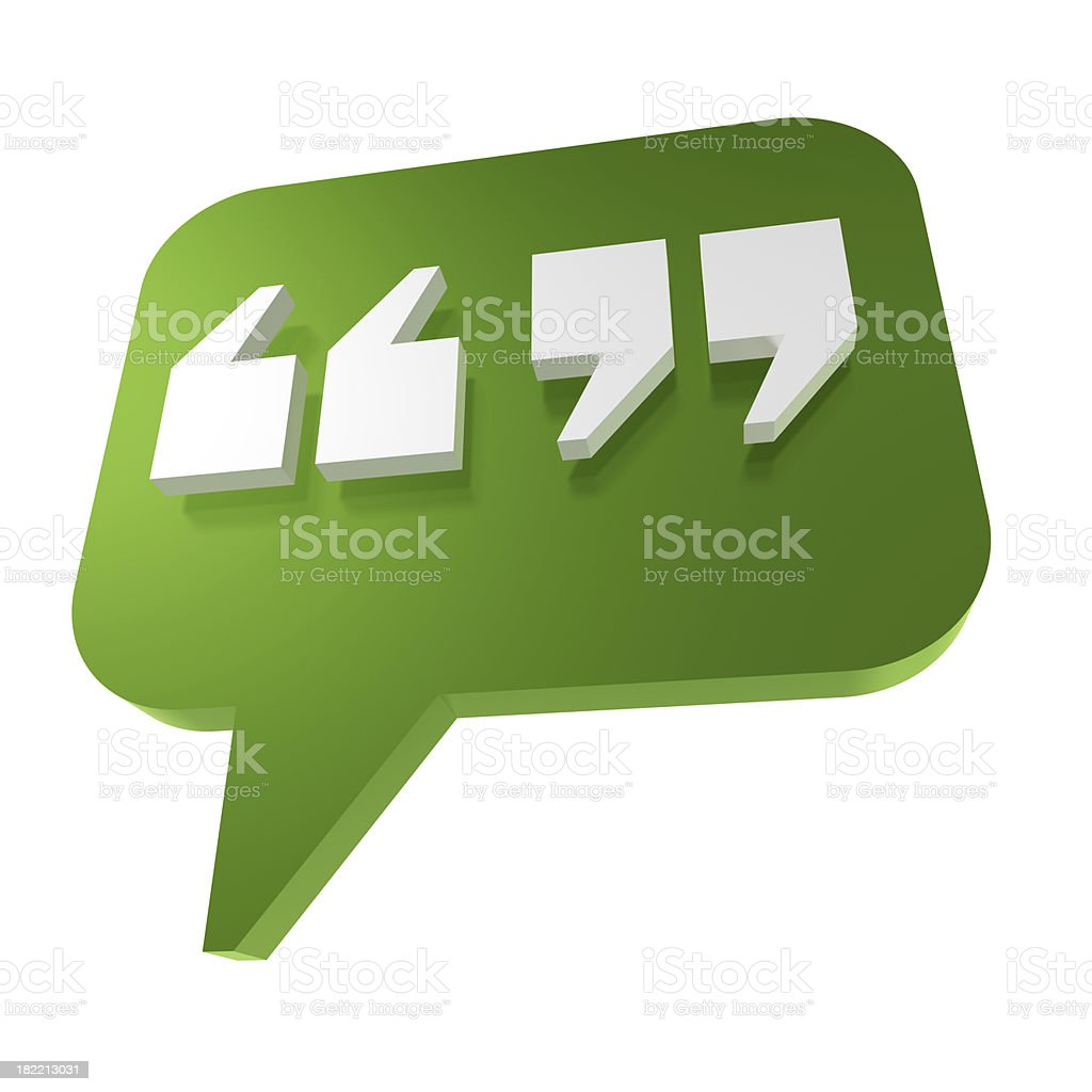 Quotation marks stock photo