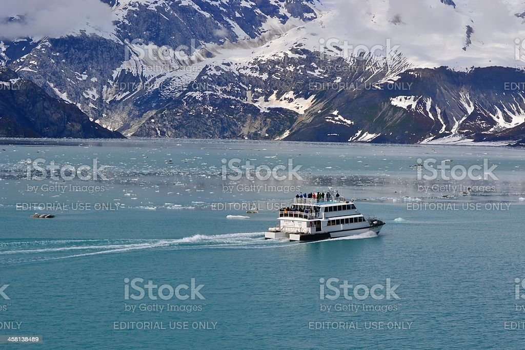 """Baranof Wind"" Sightseeing Boat Tours Mountains in Glacier Bay, Alaska royalty-free stock photo"