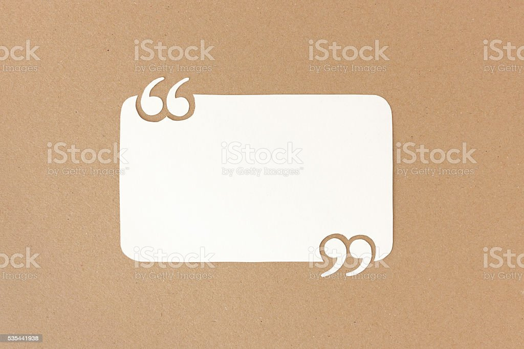 Quote template for customer reviews & testimonials stock photo