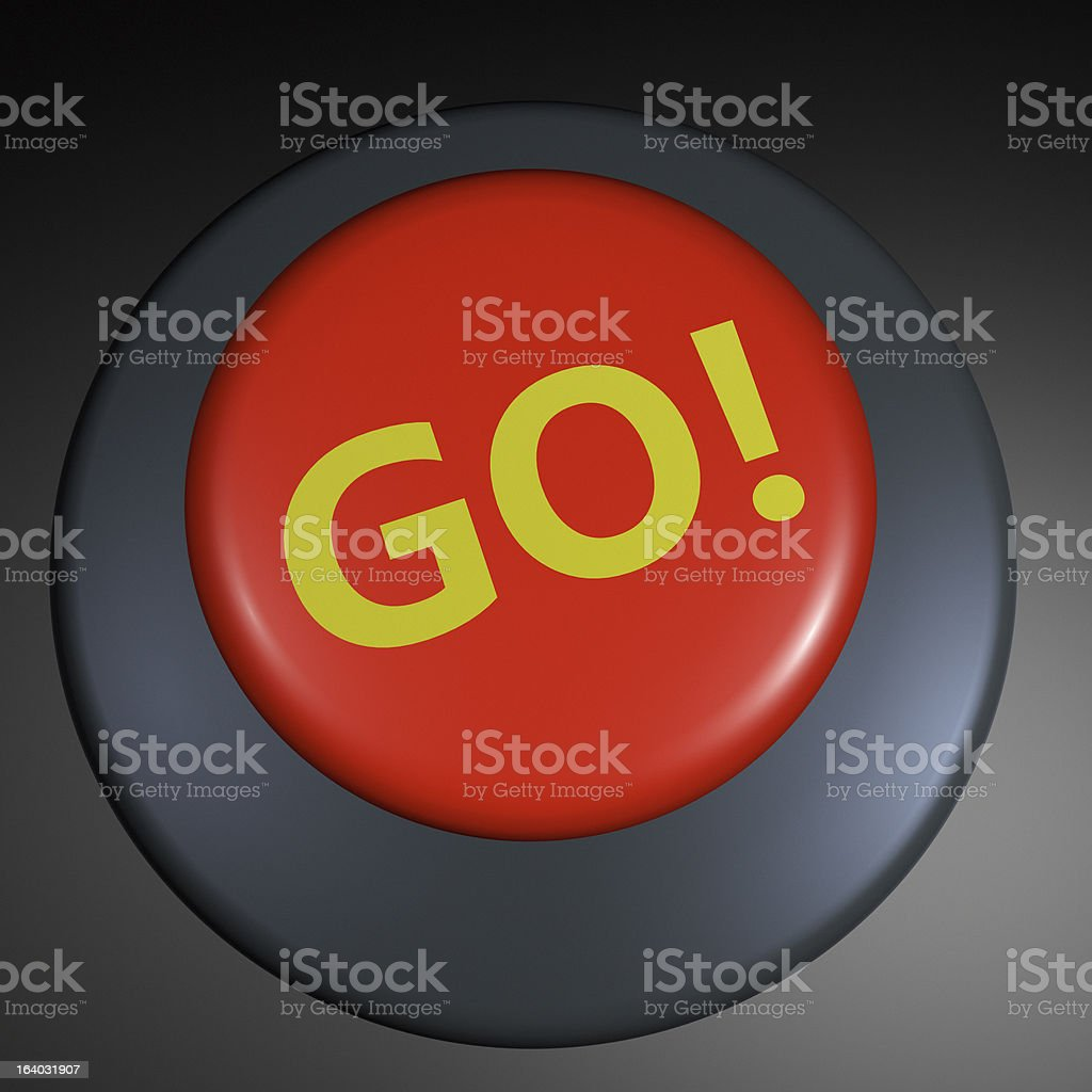 """""""Go!"""" 3D button royalty-free stock photo"""