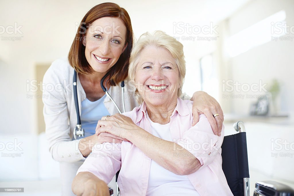 """Her motivation and care helped me in my recovery!"" stock photo"