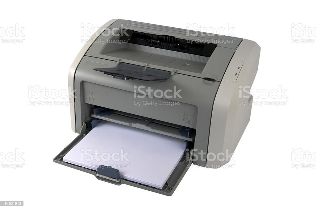 """home"" laser printer royalty-free stock photo"