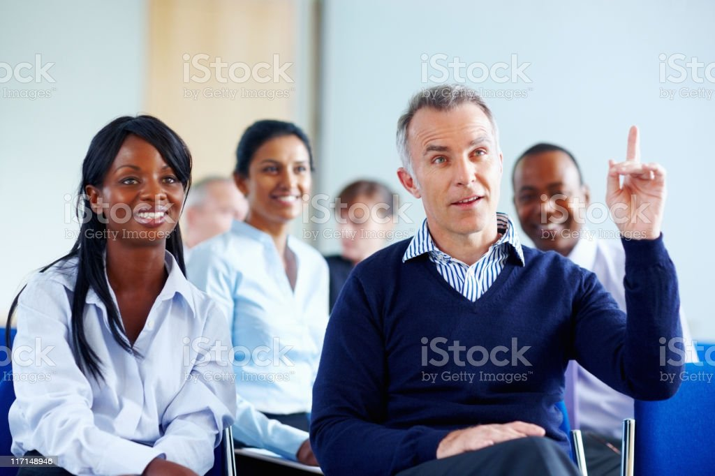 """I have a question"" royalty-free stock photo"