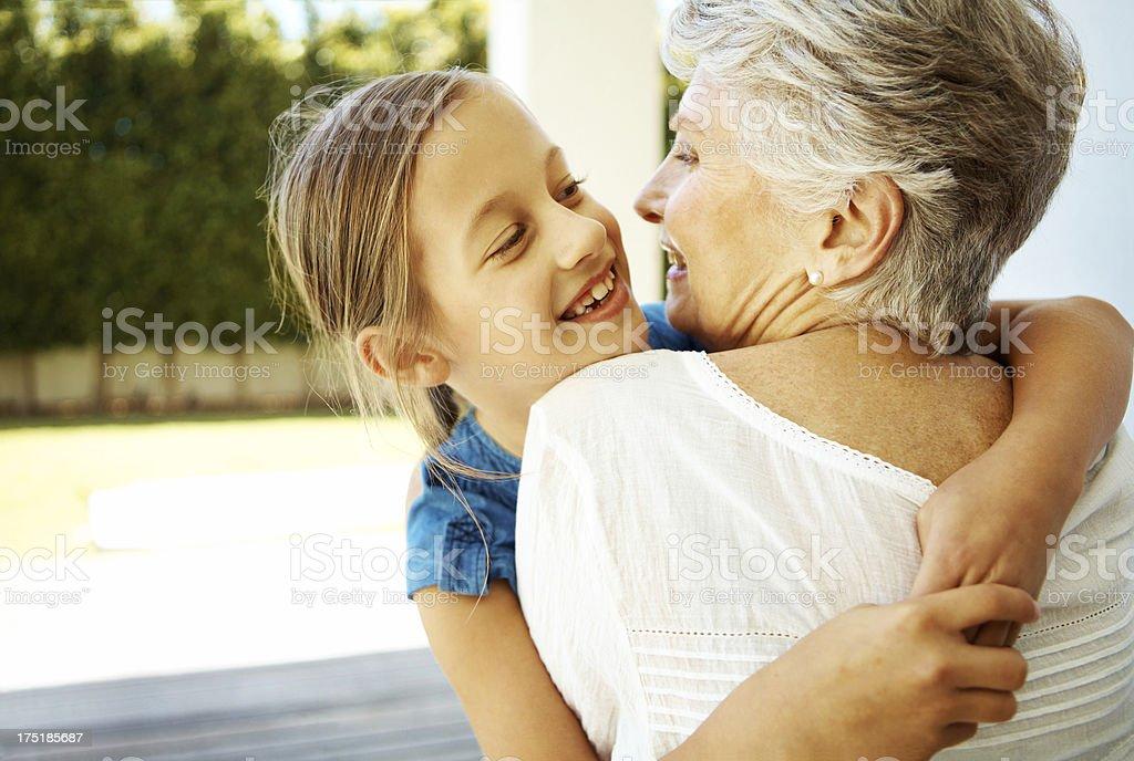 """""""I love you granny!"""" royalty-free stock photo"""