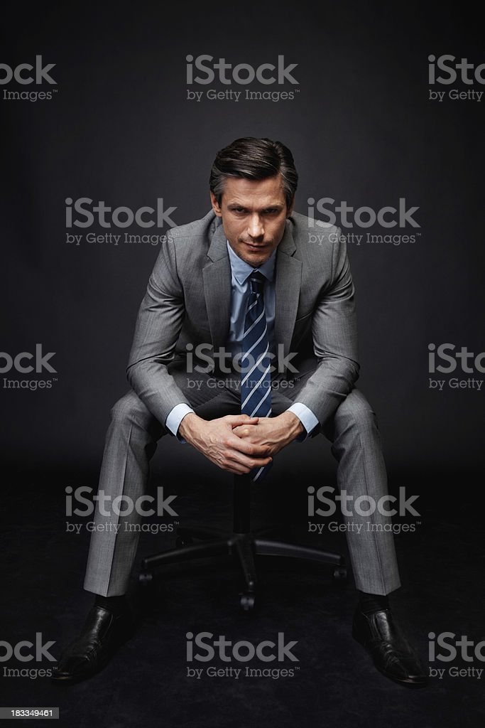 """I mean business"" stock photo"
