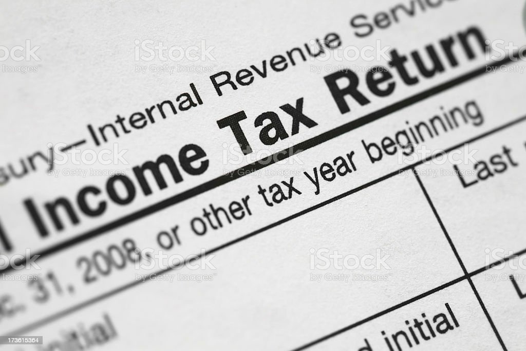 """Income Tax Return"" Closeup royalty-free stock photo"
