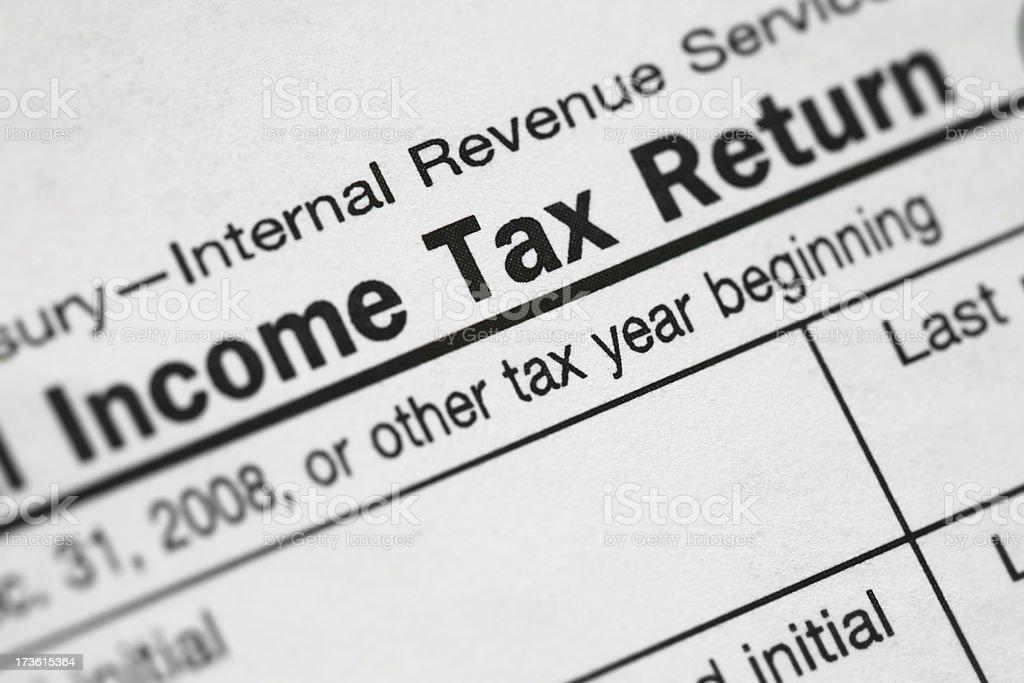 """Income Tax Return"" Closeup stock photo"