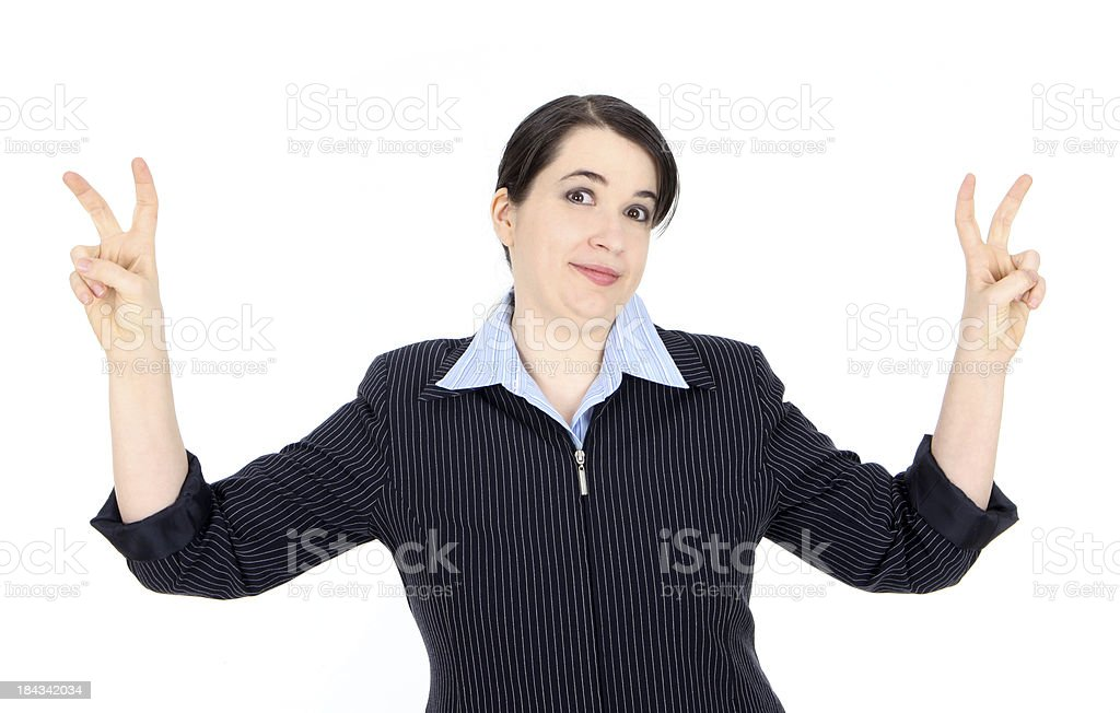 Quoting Business Woman royalty-free stock photo