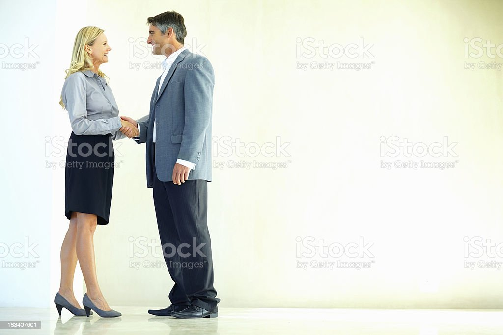"""It's a deal"" royalty-free stock photo"