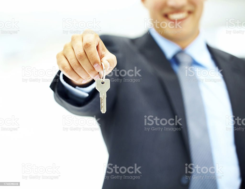 """It's all yours!"" - Success stock photo"
