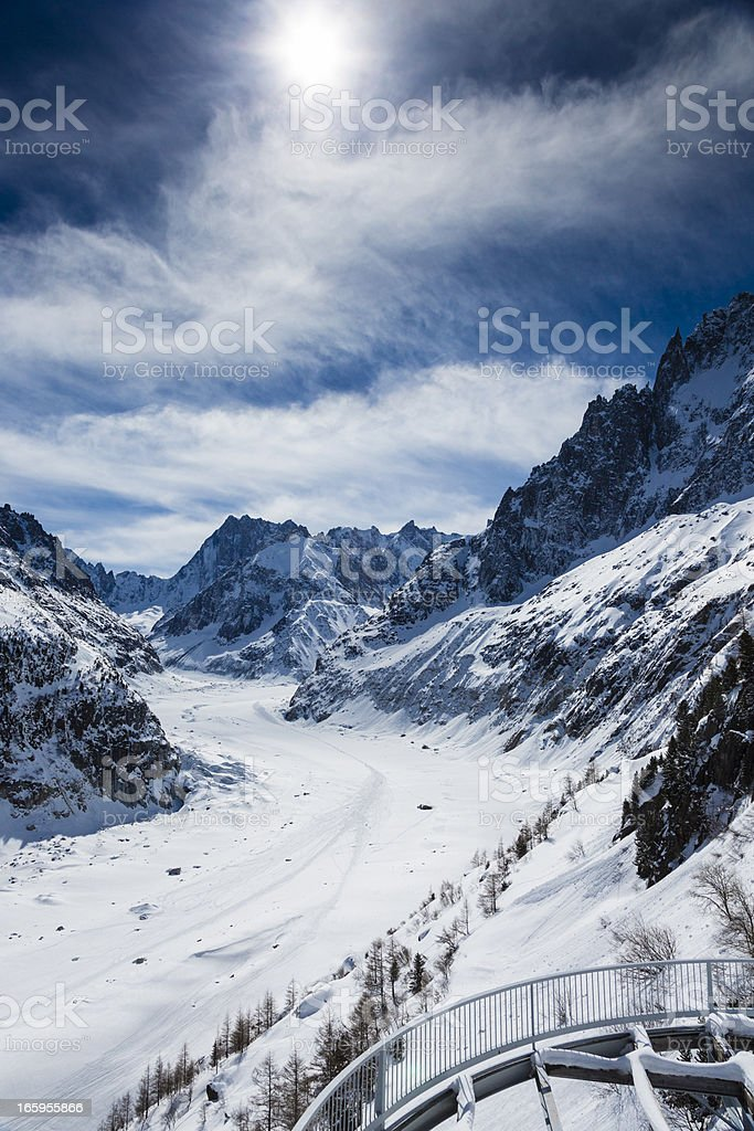 """Mer de glace"" glacier - ""Sea of Ice"", Chamonix, France royalty-free stock photo"