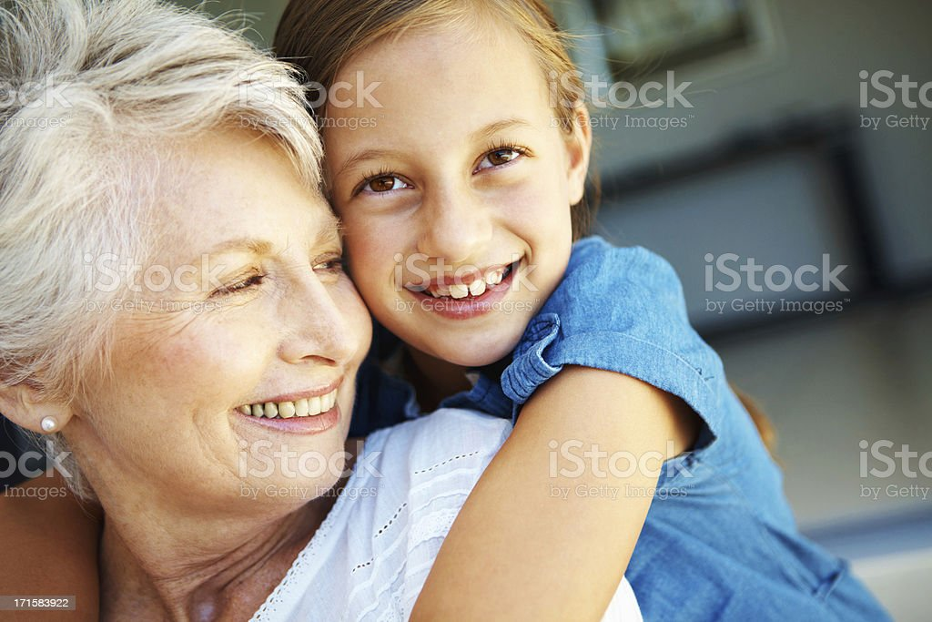 """My gran means the world to me"" stock photo"