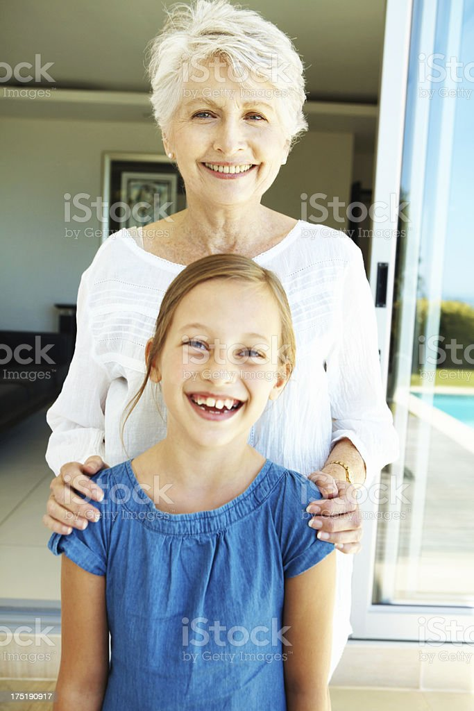 """""""My gran's taught me so much!"""" royalty-free stock photo"""