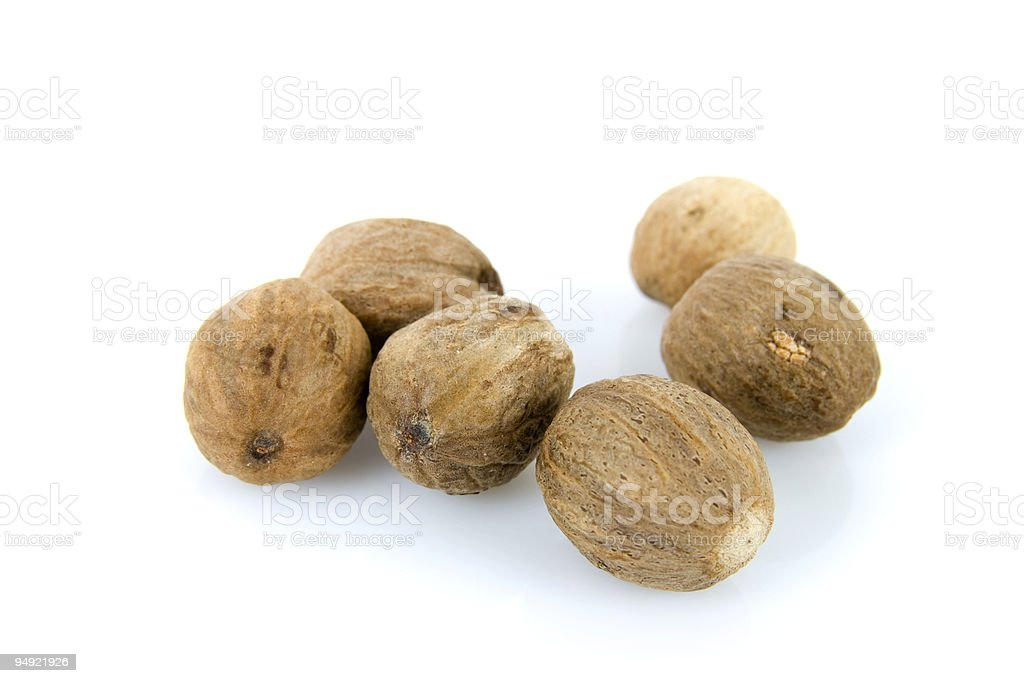 """Myristica fragrans"" known as nutmeg royalty-free stock photo"
