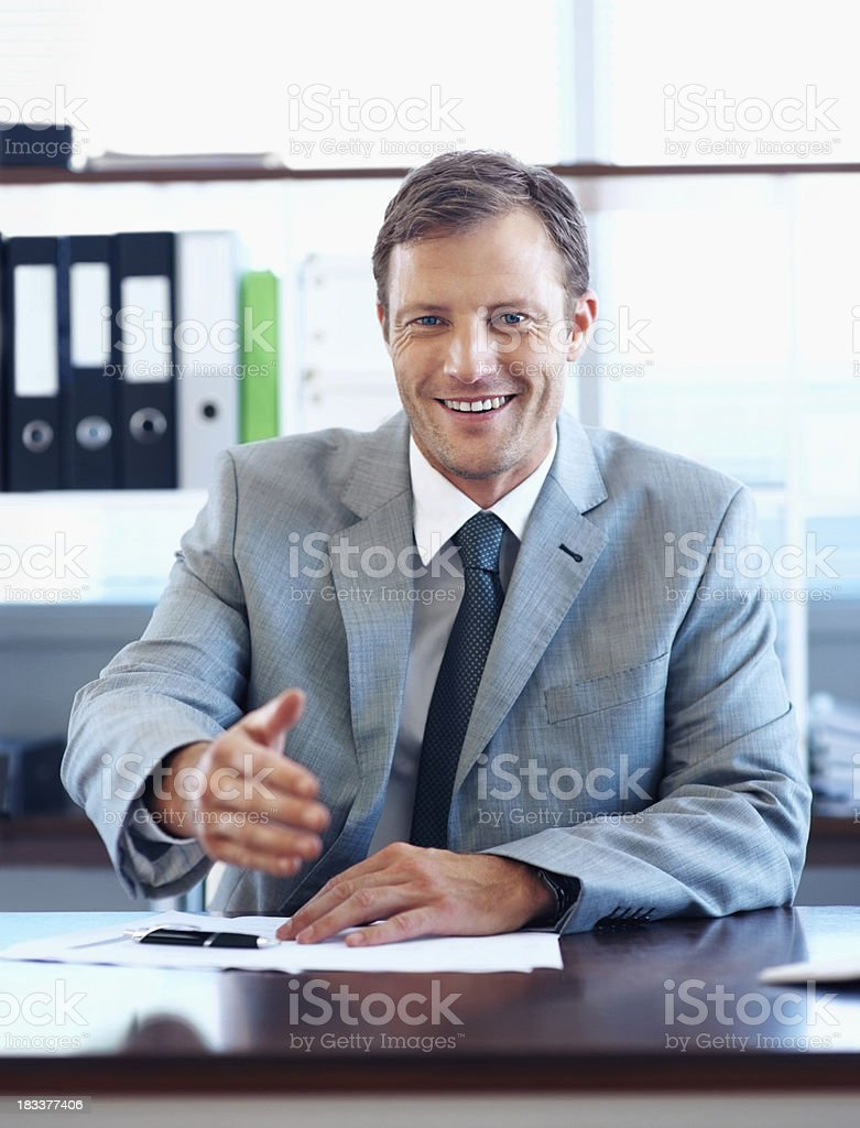 """""""Nice to meet you"""" royalty-free stock photo"""