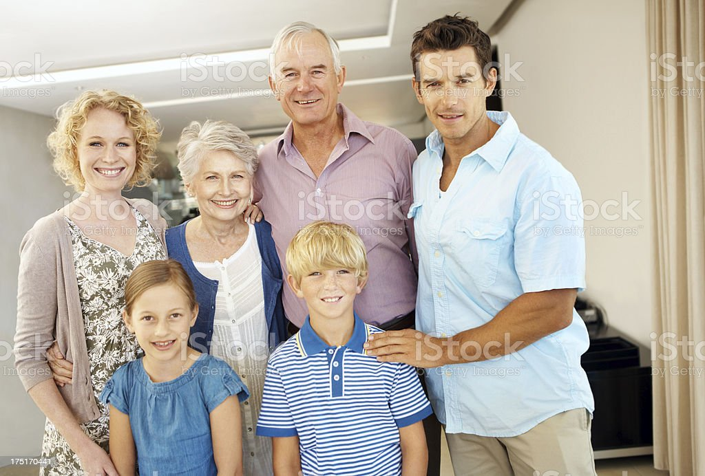 """Our family means the world to us"" royalty-free stock photo"