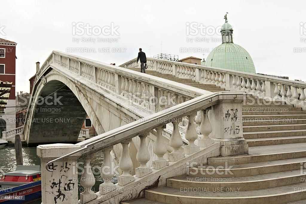 """""""Ponte degli Scalzi"""" in Venice stock photo"""
