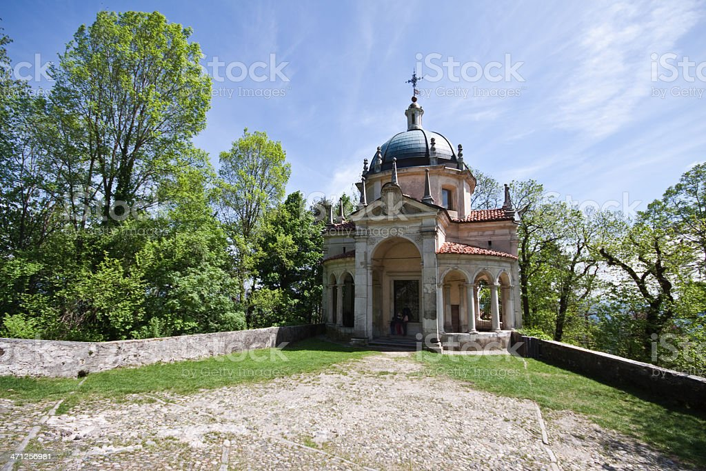 """Presentation to the Temple"" Chapel at Sacro Monte Varese stock photo"