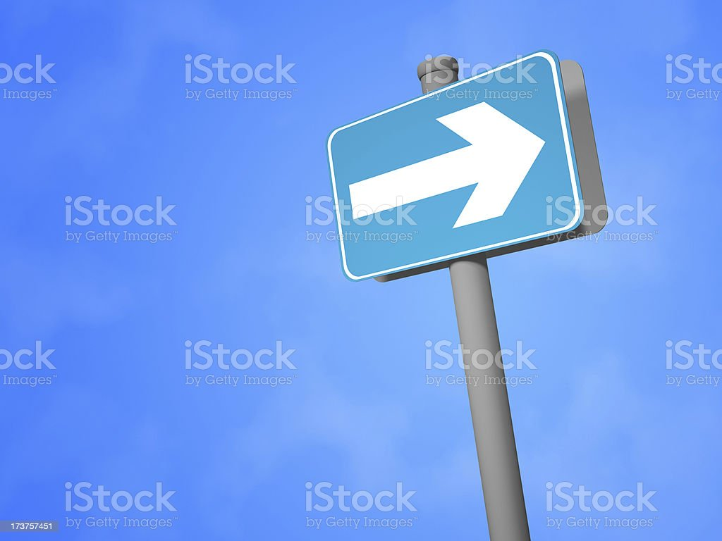 """Right Only"" Sign stock photo"