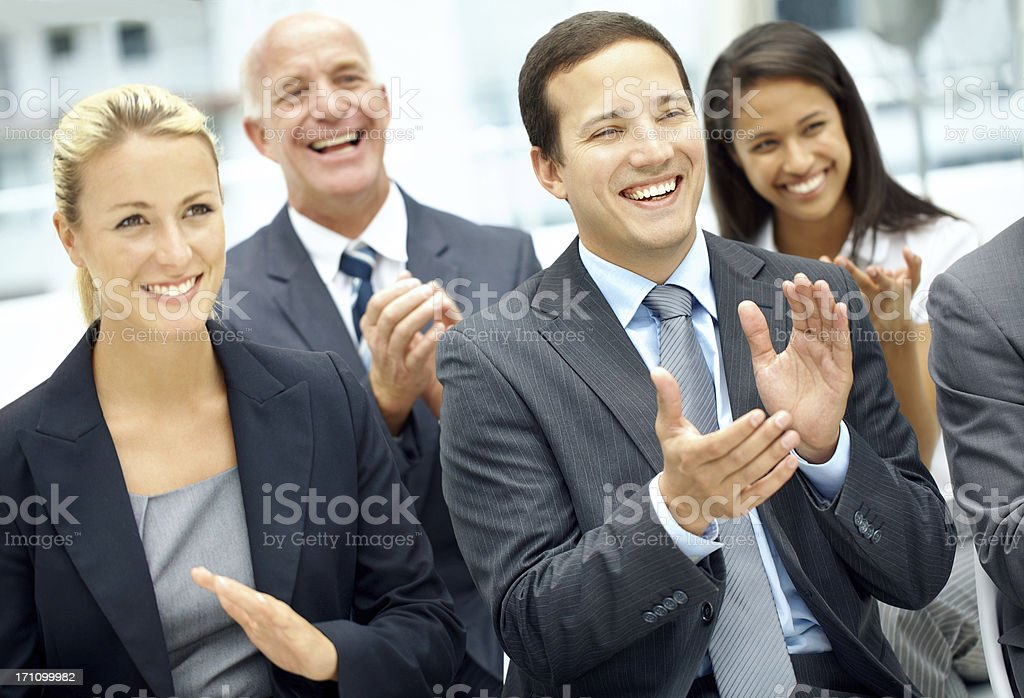 """""""That was brilliant!"""" royalty-free stock photo"""