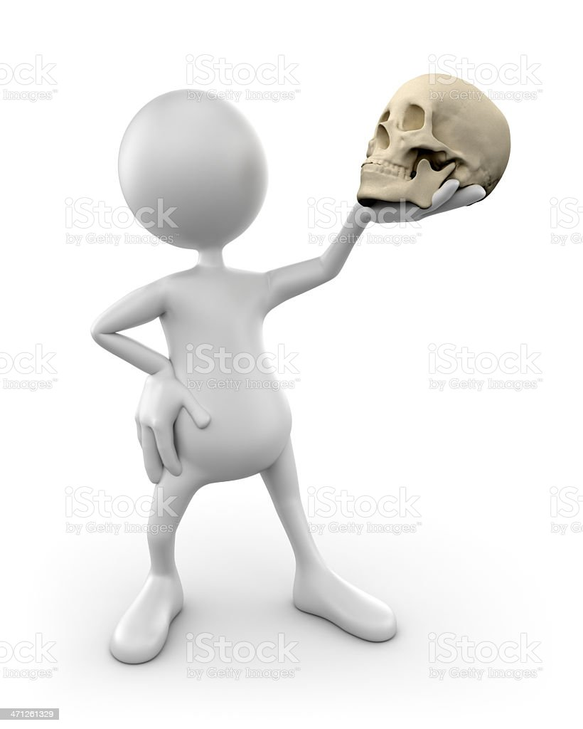 """""""To be or not to be..""""  (isolated with clipping path) royalty-free stock photo"""